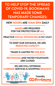 bookmans changes to policy