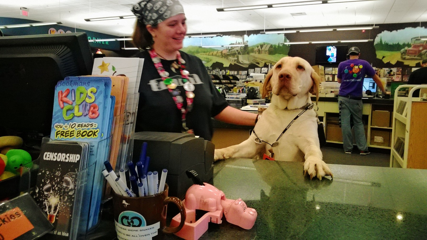 Daisy at the Cash Register
