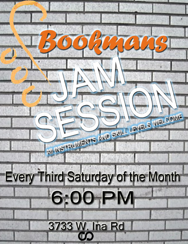 Bookmans Open Jam 3rd Saturday