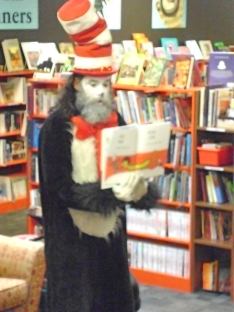 Cat in Hat at a Bookmans Seussabration