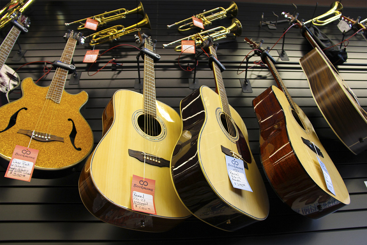 Find the Right Instrument at Bookmans Ina