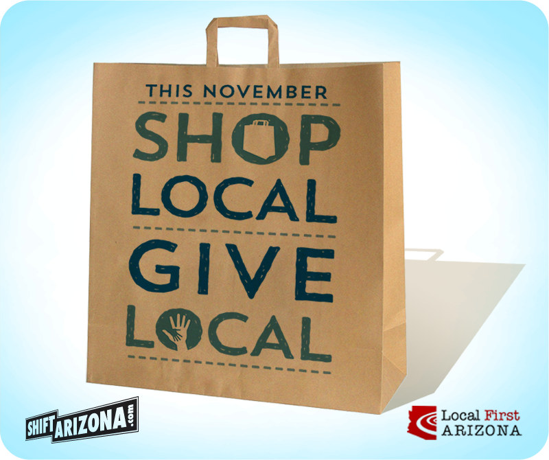 Shop Local, Give Local and enjoy Freebie Fridays with Bookmans Mesa.