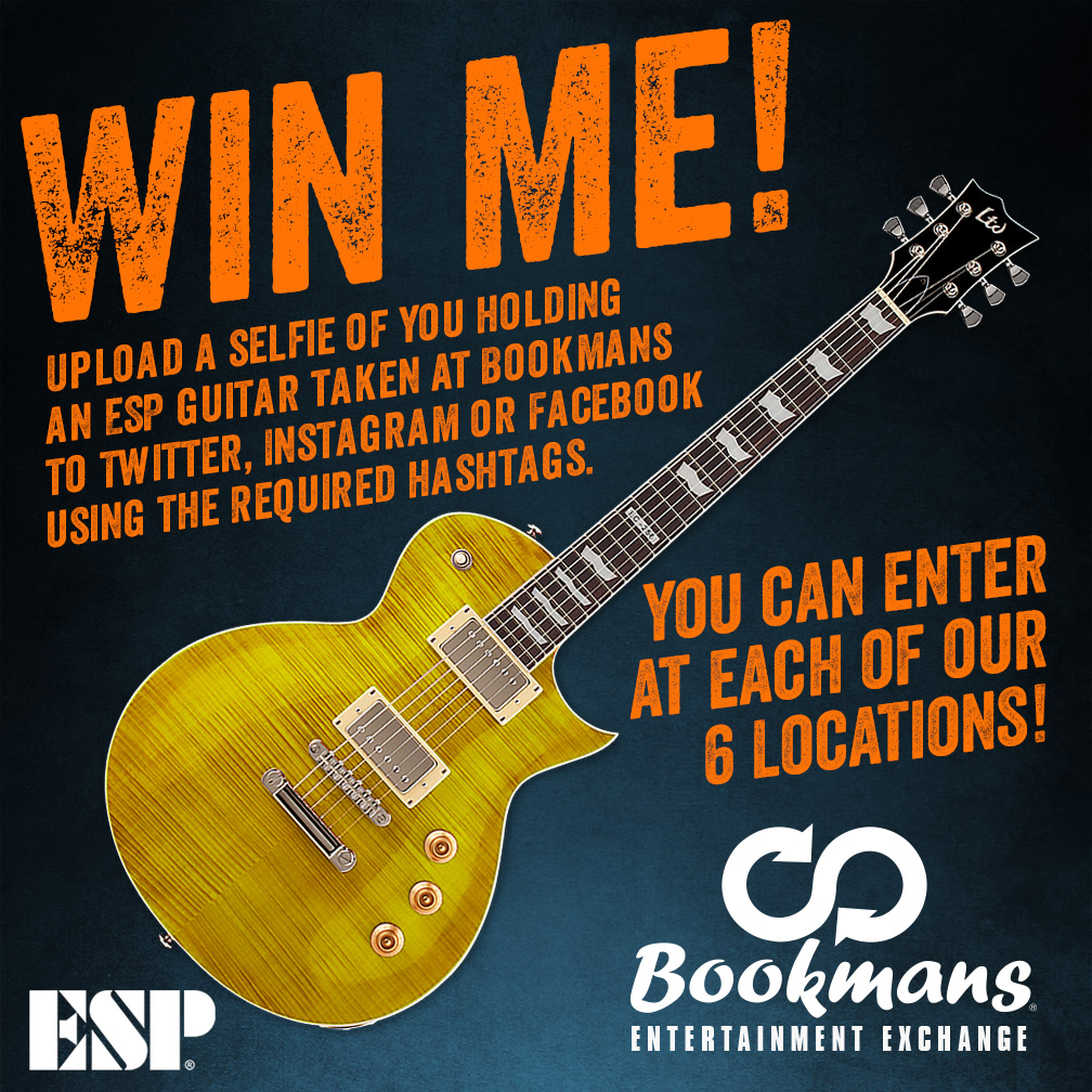 Win a Guitar in the Bookmans ESP Giveaway