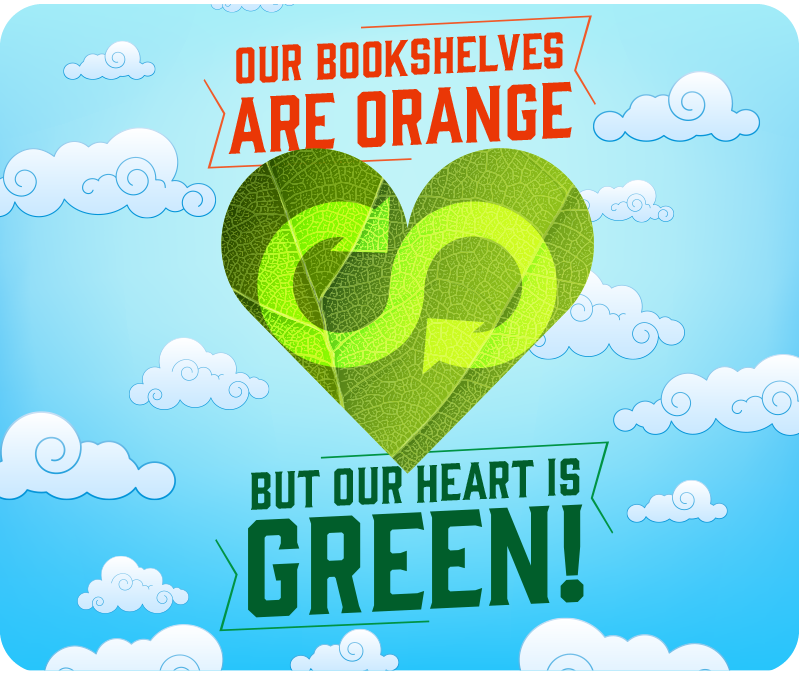 Earth Month: Our Shelves Are Orange, But Our Hearts Are Green