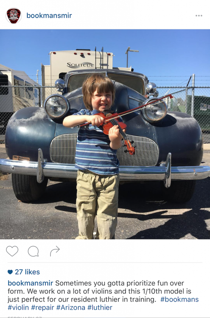 Bookmans Musical Instrument Repair Shop on Instagram