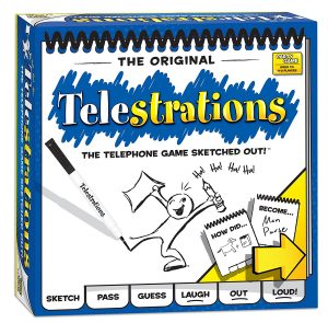 Photo of Telestrations board game box