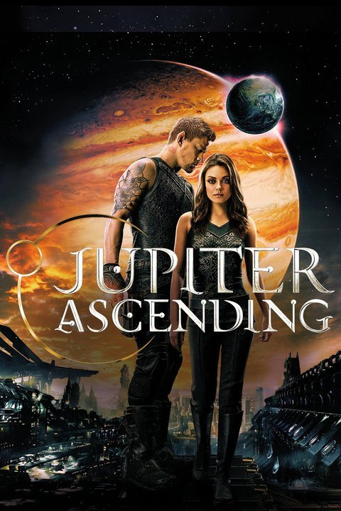 Movie Poster for Jupiter Ascending with Mila Kunis and Channing Tatum