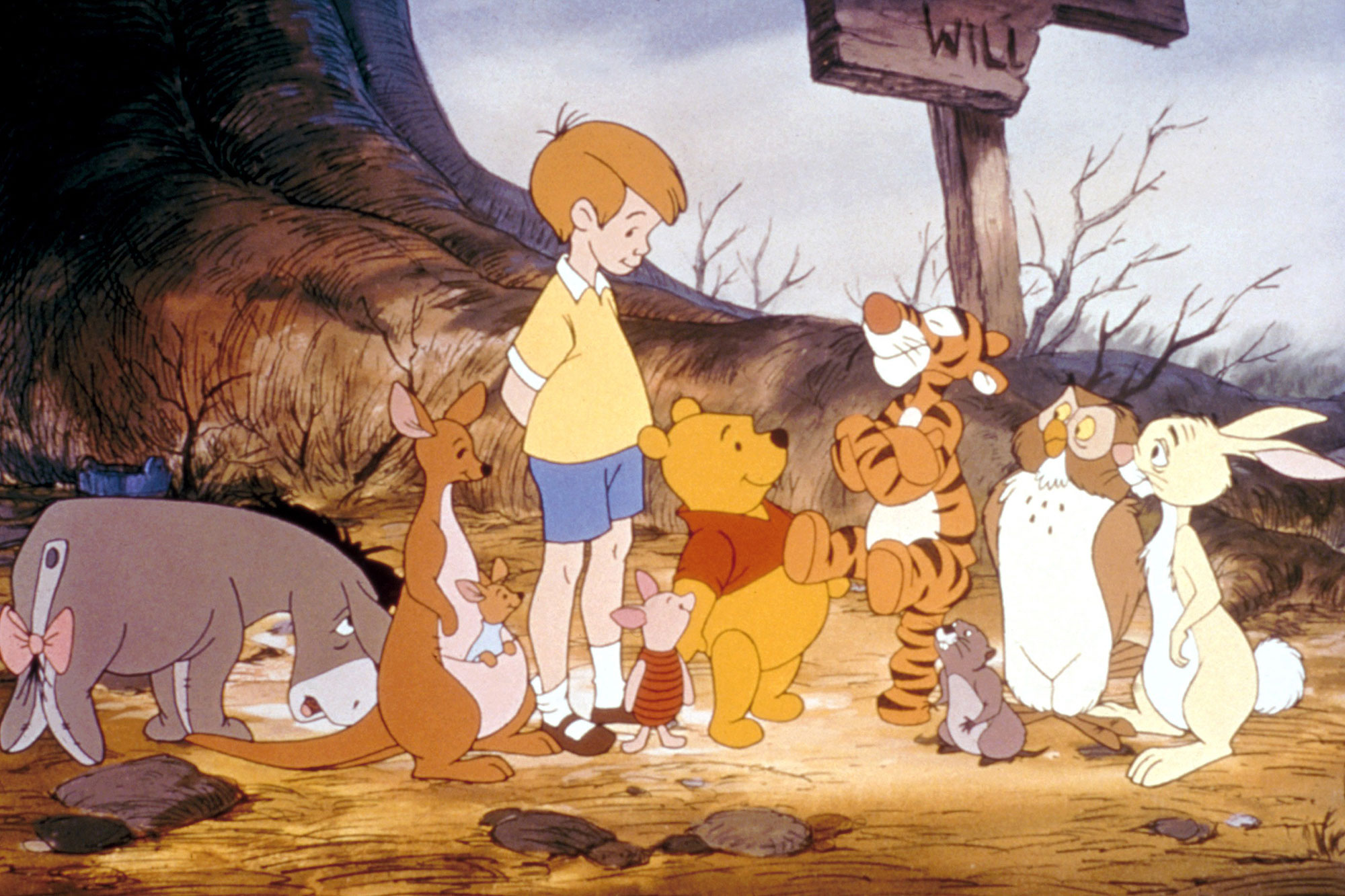 NEW ADVENTURES OF WINNIE THE POOH, Eeyore, Kanga, Roo, Christopher Robin, Piglet, Winnie the Pooh, Tigger, Owl, Rabbit, 1988-91, © Walt Disney / Courtesy: Everett Collection