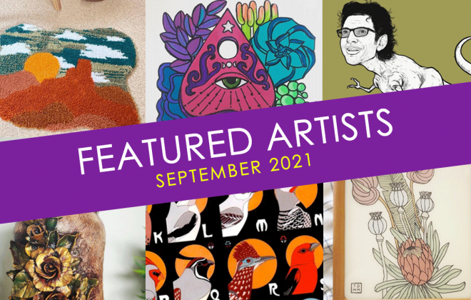 september featured artists at bookmans