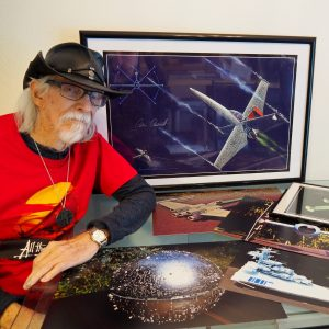 Colin Cantwell Star Wars ship creator free meet-and-greet at Bookmans stores