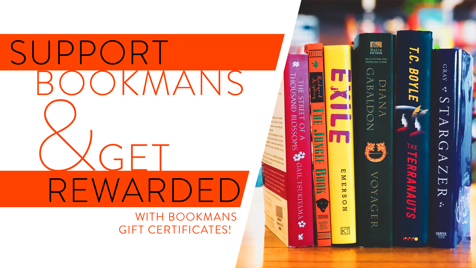 Bookmans gift certificates support bookmans get reward with the purchase of a gift certificate