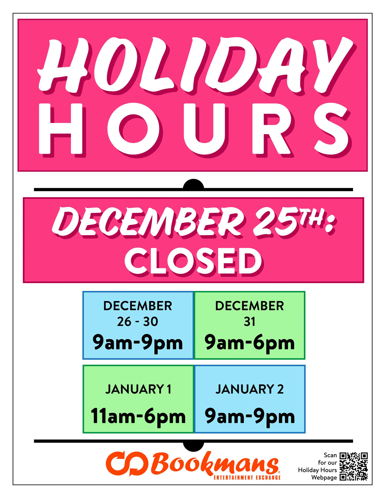 tucson store hours holidays