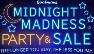Midnight Madness Party and Sale announcement