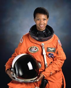 The official NASA portrait of Mission Specialist Mae Jemison