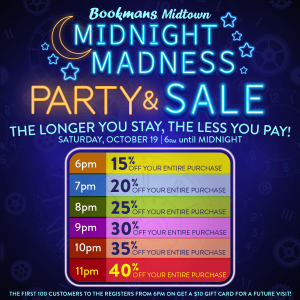 Midnight Madness discount schedule