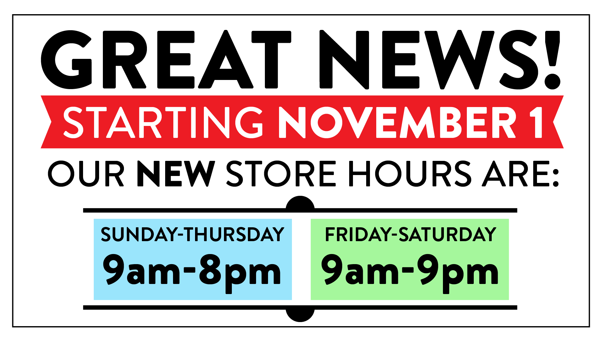 Bookmans hours extended starting November 2020