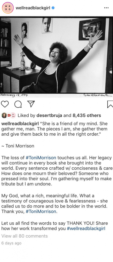 toni morrison well-read black girl