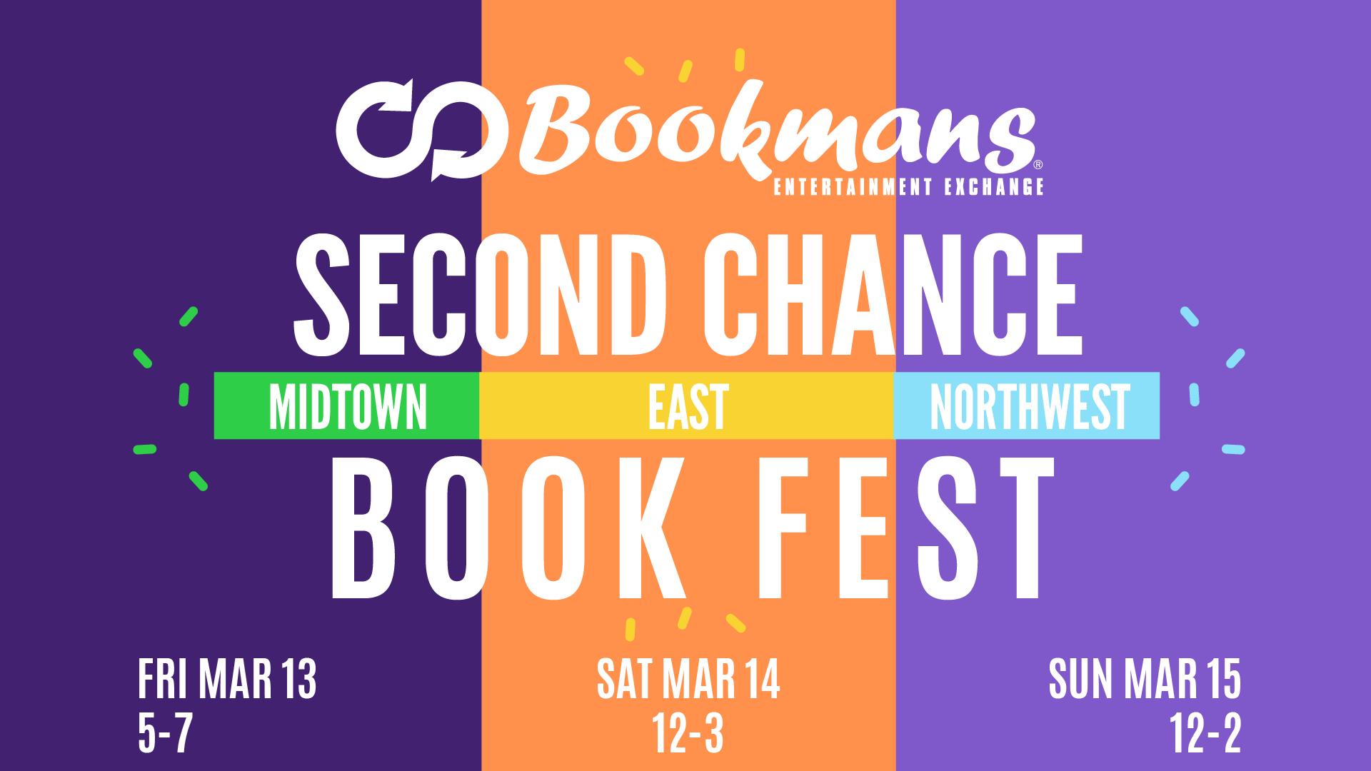second chance book fest bookmans tucson stores