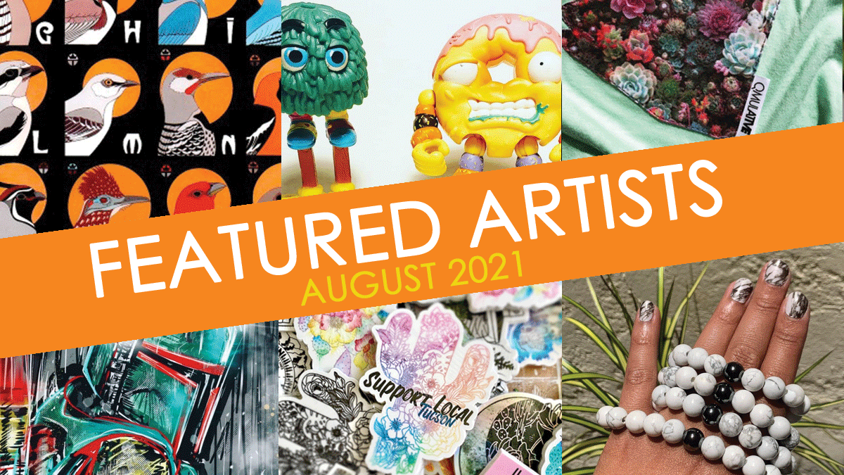 august featured artists at Bookmans