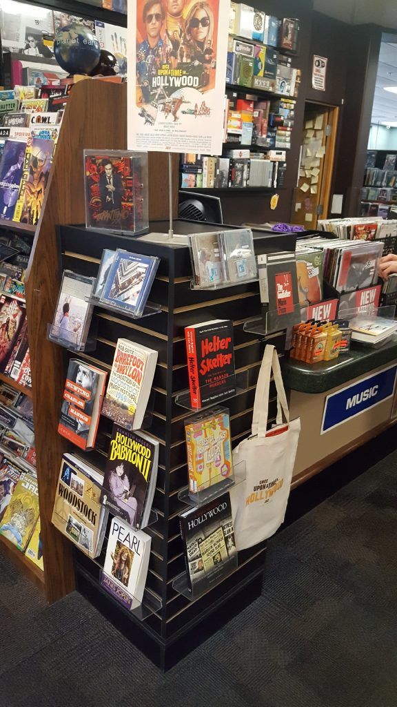 Once Upon a Time in Hollywood display at Bookmans Phoenix