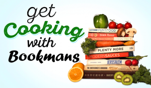 get cooking with bookmans cookbook stack