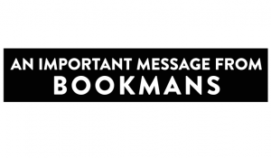 An important message from Bookmans