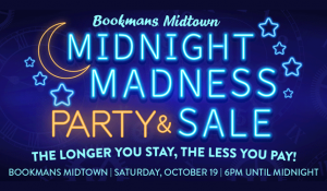 Midnight Madness party and sale flyer