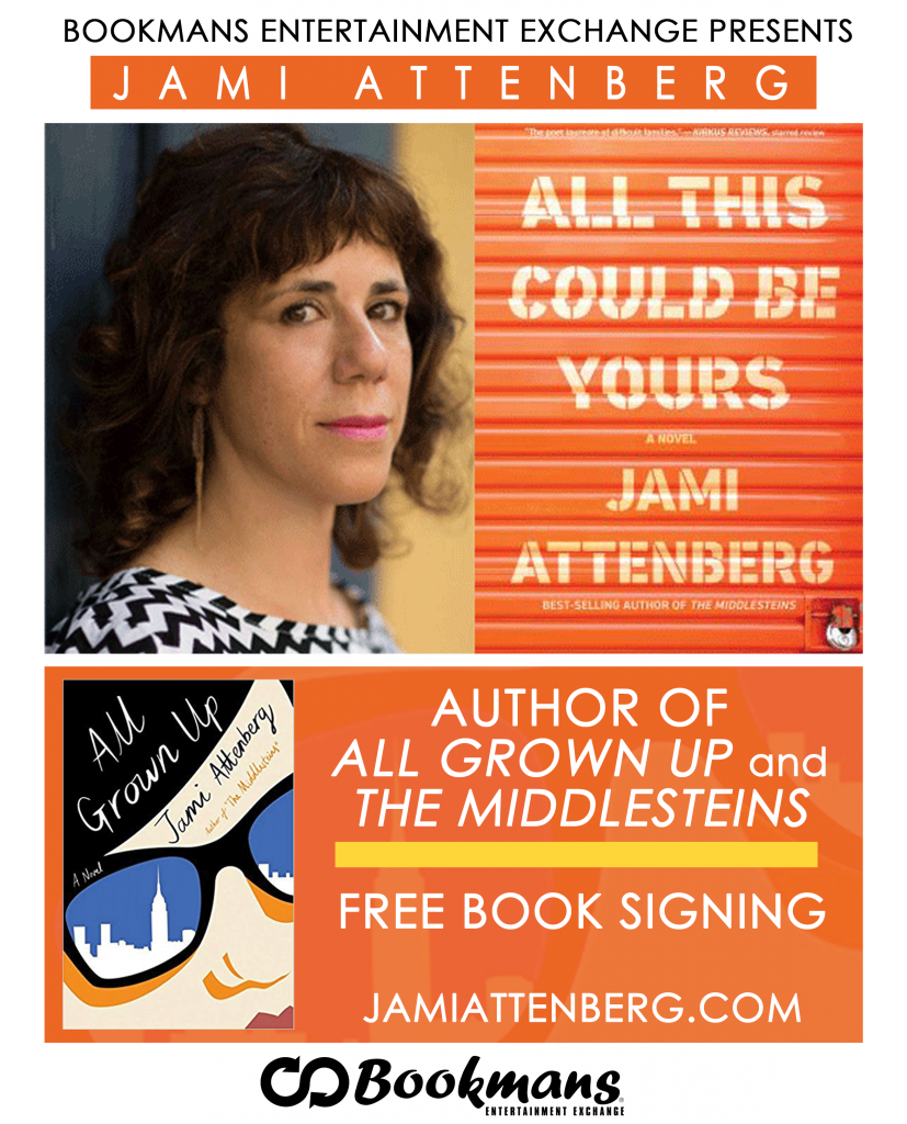 Jami Attenberg author signing Bookmans Midtown