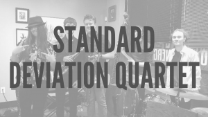 Standard Deviation Club text over image of the band