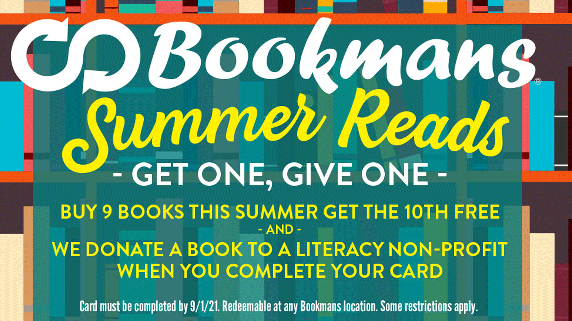 bookmans summer reads card preview image