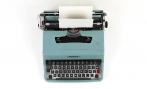 Typewriter for author event