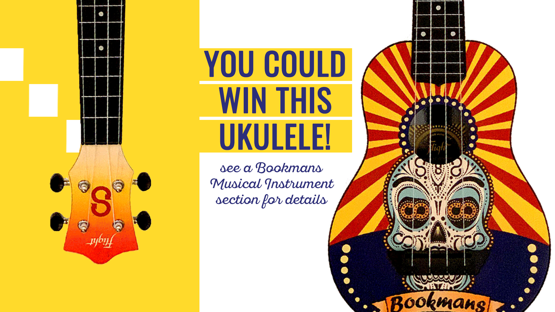win this bookmans ukulele see musical instrument section for details